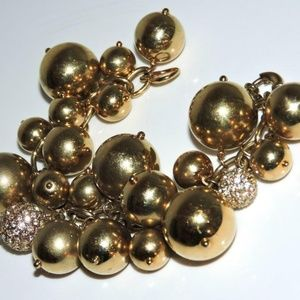 J. Crew Bracelet Baubles Cha-Cha Gold Crystals